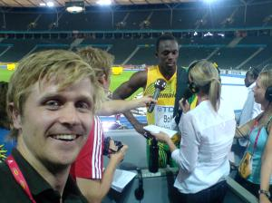 Usain Bolt and andre